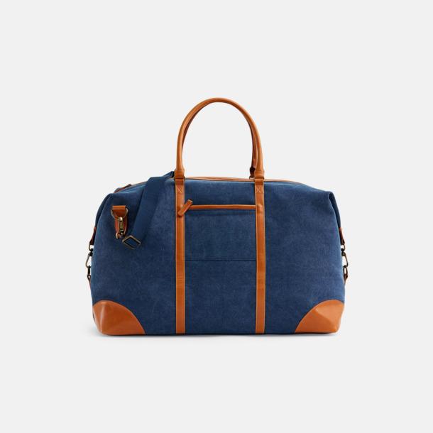Marinblå Weekendbag från Vinga of Sweden med reklamtryck