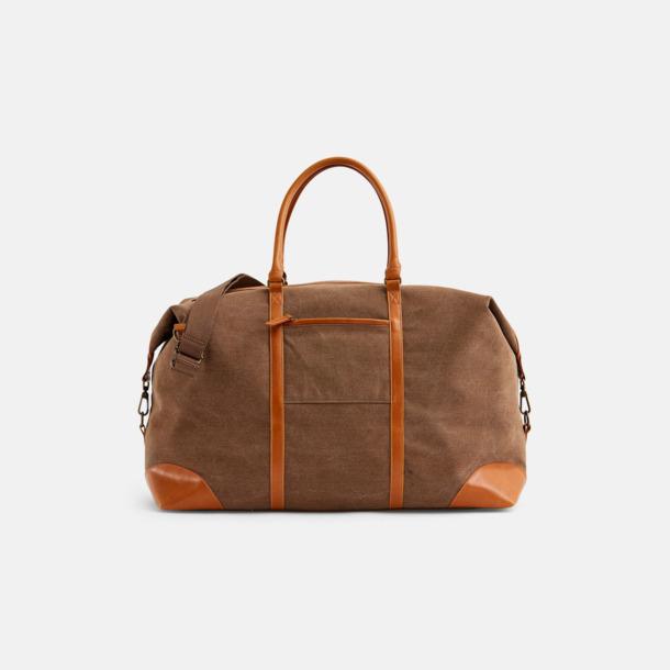 Brun Weekendbag från Vinga of Sweden med reklamtryck