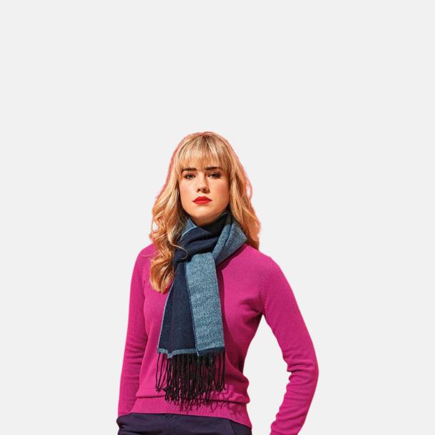 Tvåfärgade halsdukar med reklamlogo