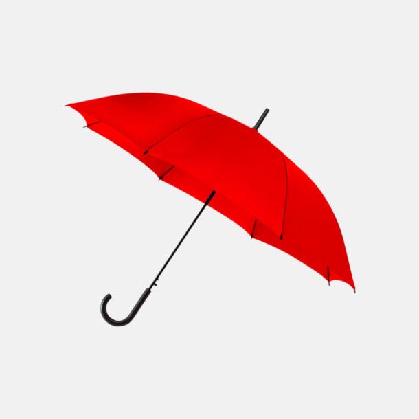 Röd (PMS 199C) Reklamparaplyer med eget tryck