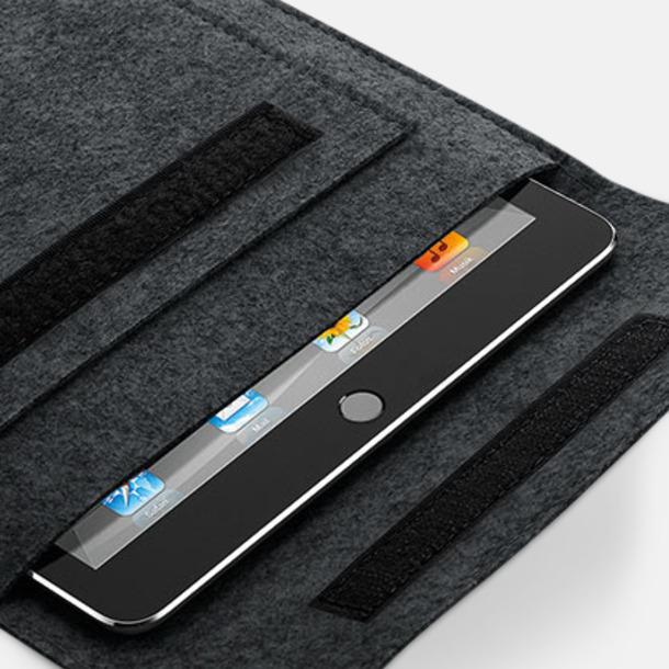 Tabletfodral i filt med reklamlogo