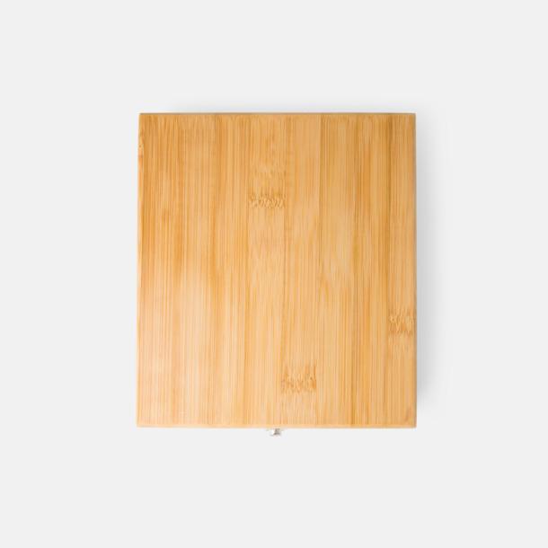 5-delars vinset i bambu med reklamlogga