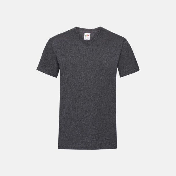 Dark Grey Heather V-ringad t-shirt med reklamtryck