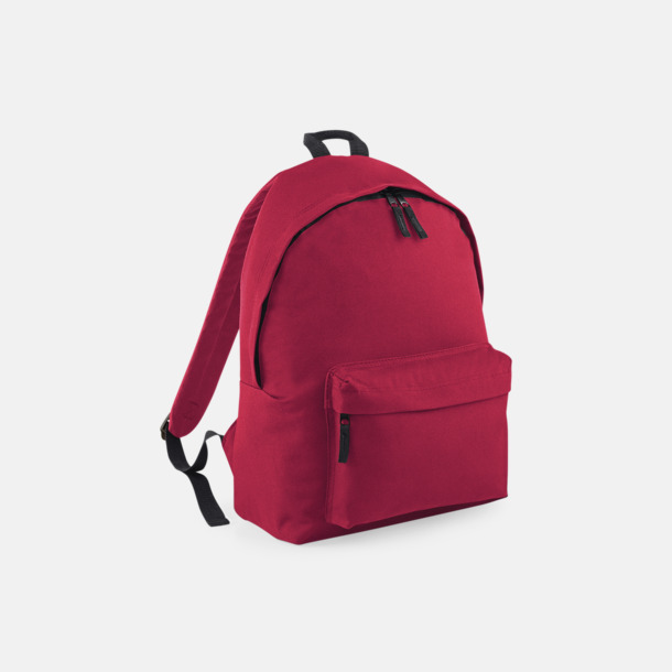 Claret Klassisk ryggsäck i 2 storlekar med eget tryck