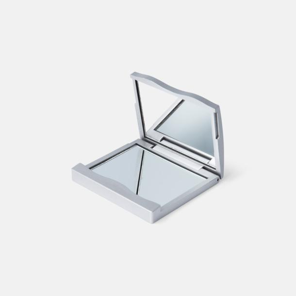 Silver Dubbla fickspeglar med reklamtryck