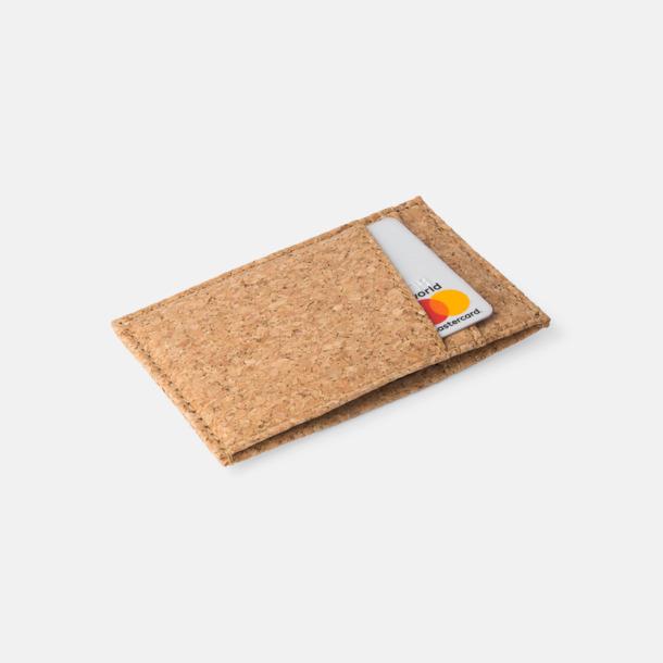 Natur/Brun Eko kreditkortshållare med reklamtryck