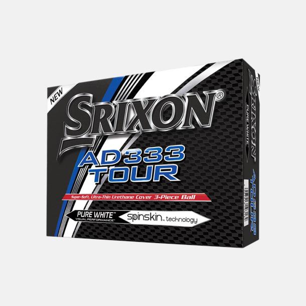Kartong AD 333 Tour golfbollar från Srixon med reklamtryck