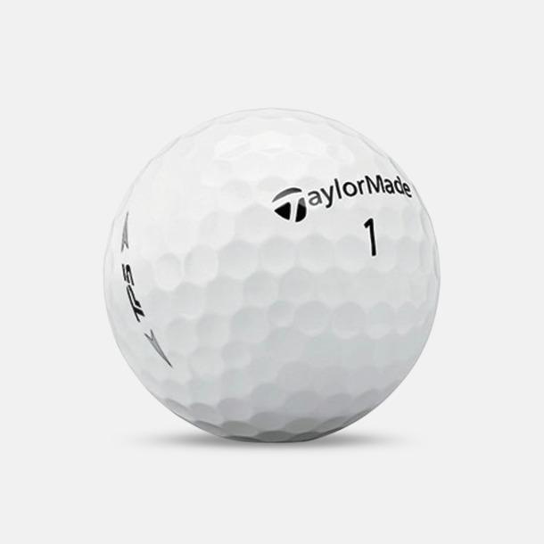 Vit Taylor Made TP5 golfbollar med reklamtryck