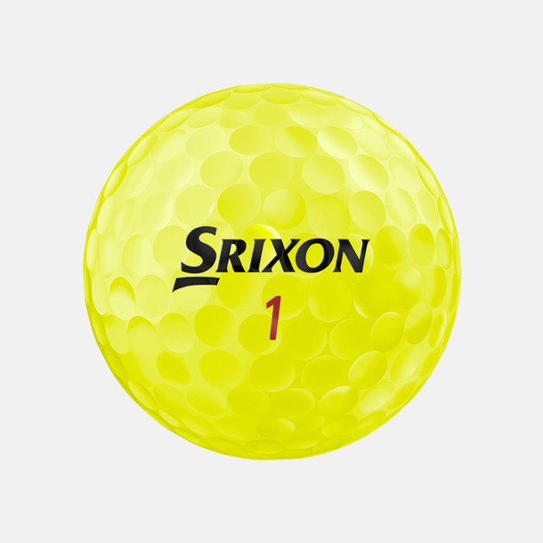 Tour yellow Z-Star XV golfbollar från Srixon med reklamtryck