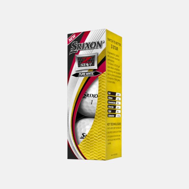 Ask Z-Star golfbollar från Srixon med reklamtryck