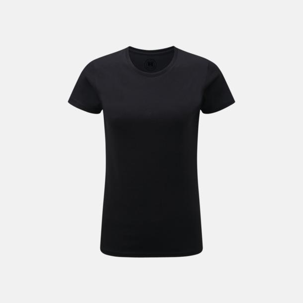 Svart (dam) Färgstarka t-shirts i herr- och dammodell med reklamtryck