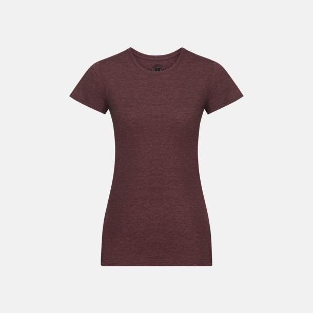 Maroon Marl (dam) Färgstarka t-shirts i herr- och dammodell med reklamtryck