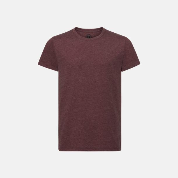 Maroon Marl (herr) Färgstarka t-shirts i herr- och dammodell med reklamtryck