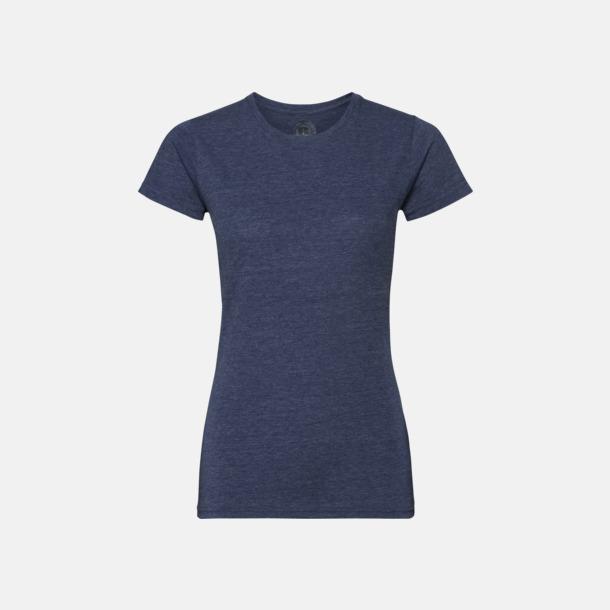 Bright Navy Marl (dam) Färgstarka t-shirts i herr- och dammodell med reklamtryck