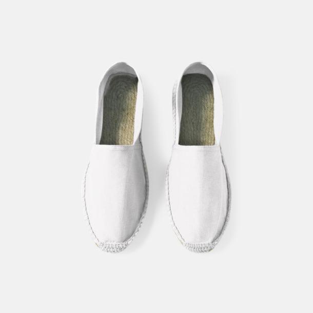 Vit Sandaler i herr- och dammodell med reklamtryck