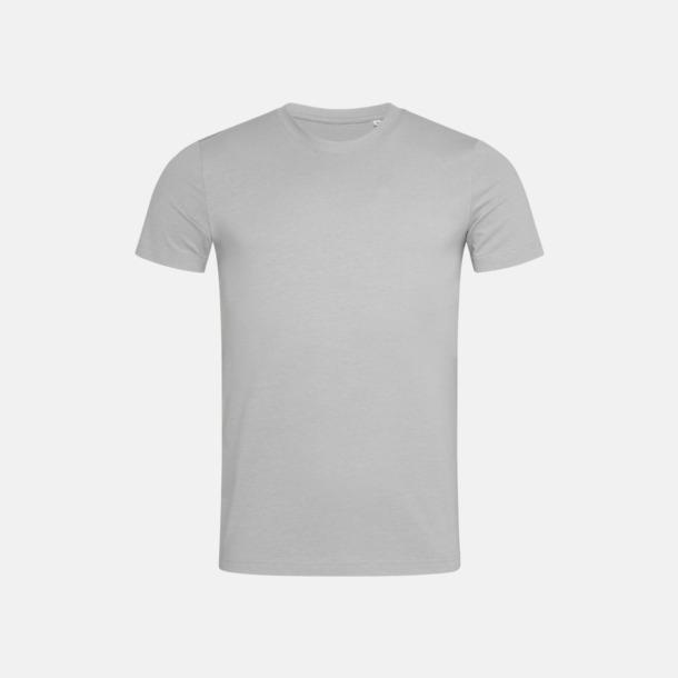 Soft Grey (crew-neck herr) Ekologiska t-shirts i flera modeller och många färger - med reklamtryck