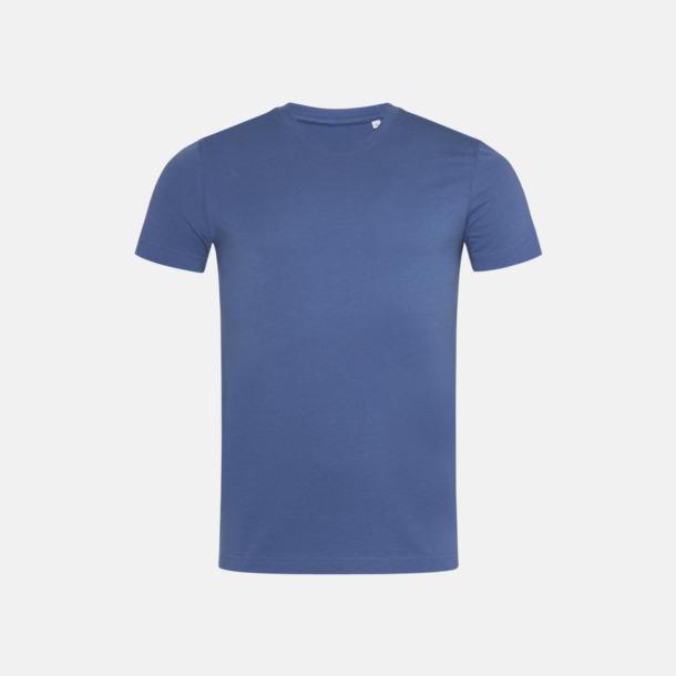 Denim Blue (crew-neck herr) Ekologiska t-shirts i flera modeller och många färger - med reklamtryck