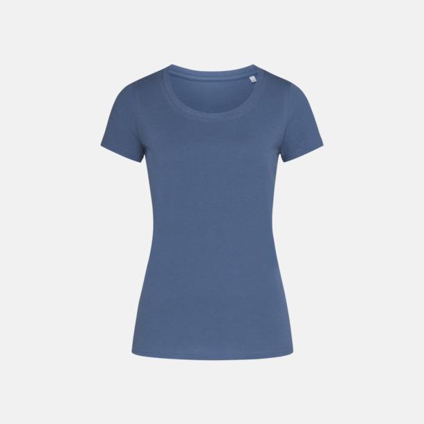 Denim Blue (crew-neck dam) Ekologiska t-shirts i flera modeller och många färger - med reklamtryck