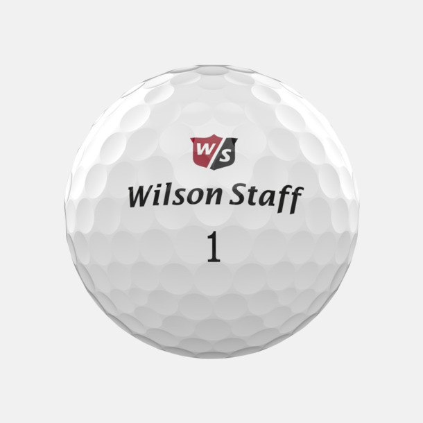 Vit Wilson Staff Logobollar med tryck