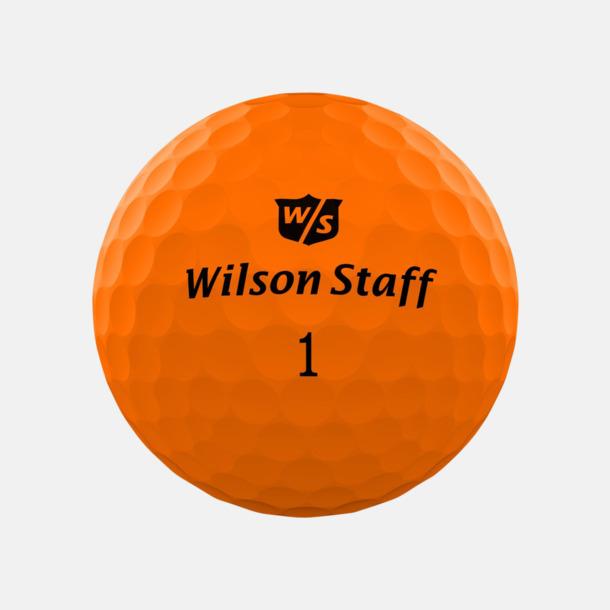 Orange matte Wilson Staff Logobollar med tryck
