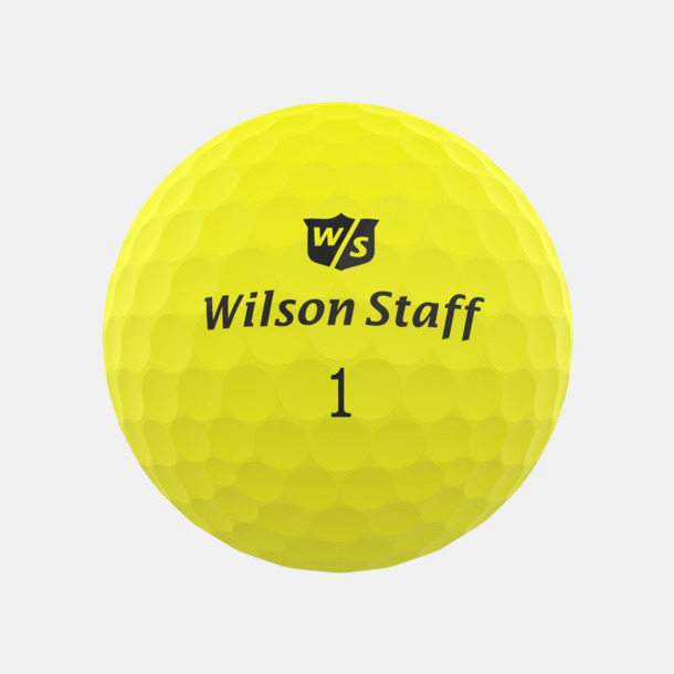 Yellow matte Wilson Staff Logobollar med tryck