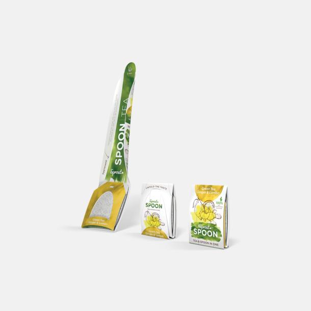 Standard förpackning (ingefära & citron te) Teskedar från Sprout med eget tryck