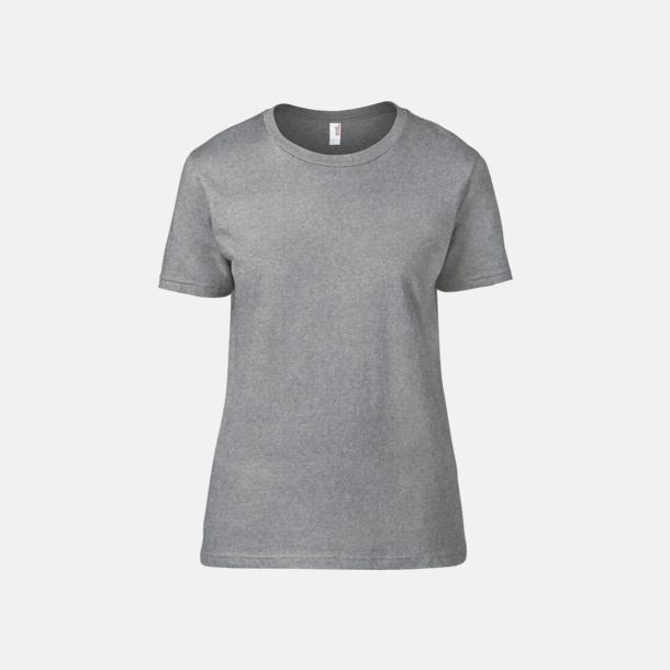 Heather Graphite (dam) Snygga bas t-shirts för herr & dam - med reklamtryck