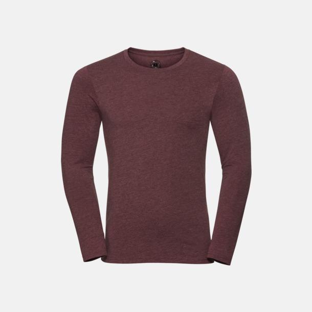 Maroon Marl (herr) Färgstarka långärms t-shirts i herr-, dam och barnmodell