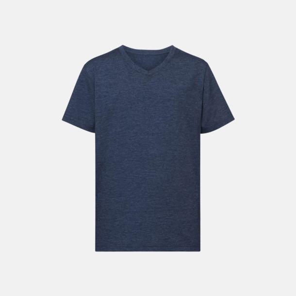 Bright Navy Marl (v-neck pojke) Barn t-shirts i u- och v-hals med reklamtryck