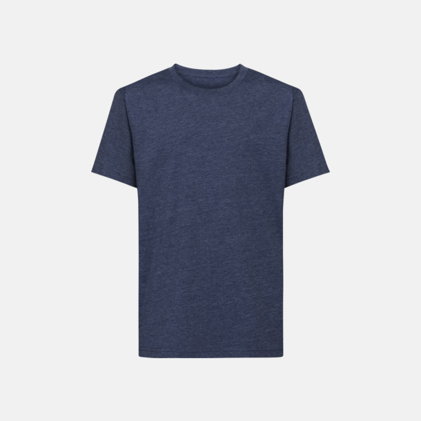 Bright Navy Marl HD barn t-shirts i med reklamtryck