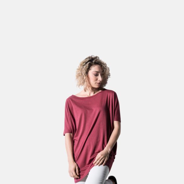 Eko oversize dam t-shirts med reklamtryck