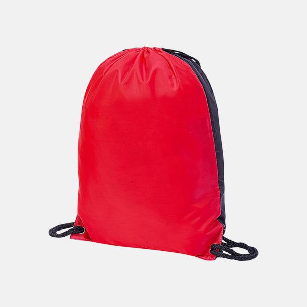 Röd / Svart Flerfärgade gympapåsar med reklamtryck