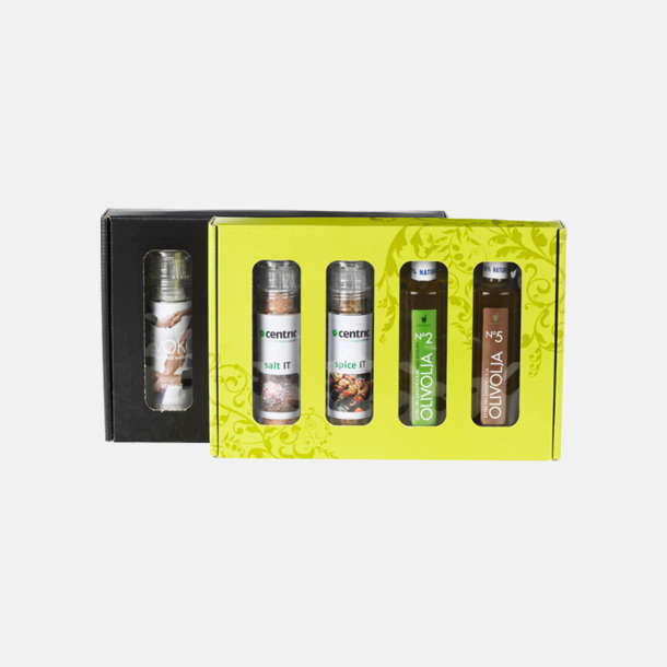 BBQ Kit 3 (2 valfria kryddkvarnar, 2 valfria olivoljor) Kryddkit med reklamtryck