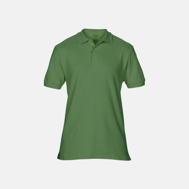 Military Green Billiga herr bomullspikéer med tryck