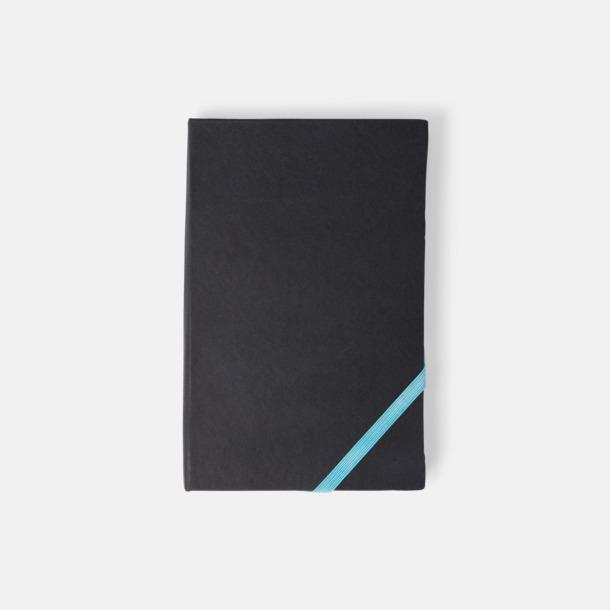 Svart/Blå (A6) Anteckningsböcker i A5- och A6-format med reklamtryck