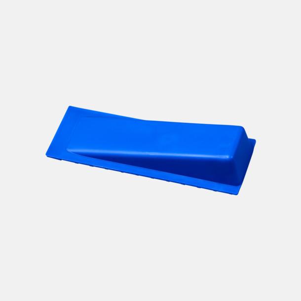 Blå Dörrstopp i plast med reklamtryck