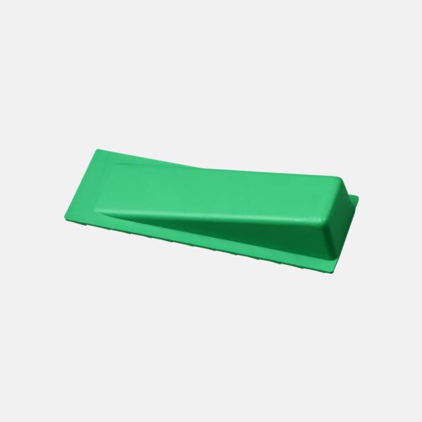 Grön Dörrstopp i plast med reklamtryck