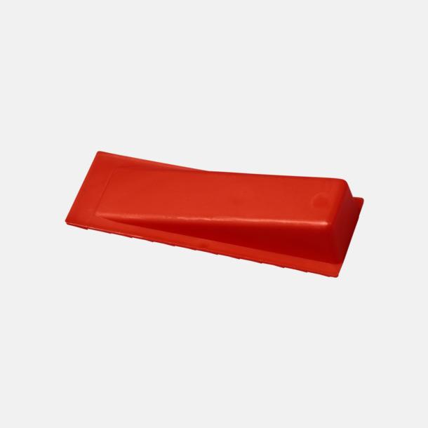 Röd Dörrstopp i plast med reklamtryck
