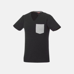 Pocket t-shirts med v-neck med reklamtryck