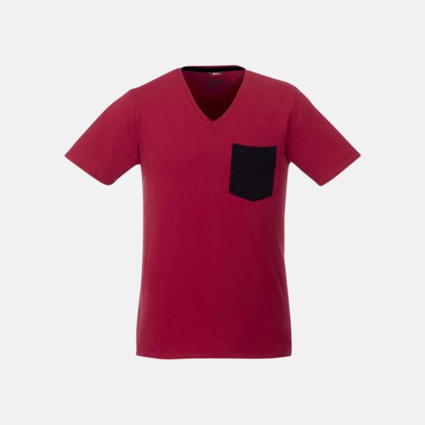 Pocket t-shirts med v-neck med reklamtryck