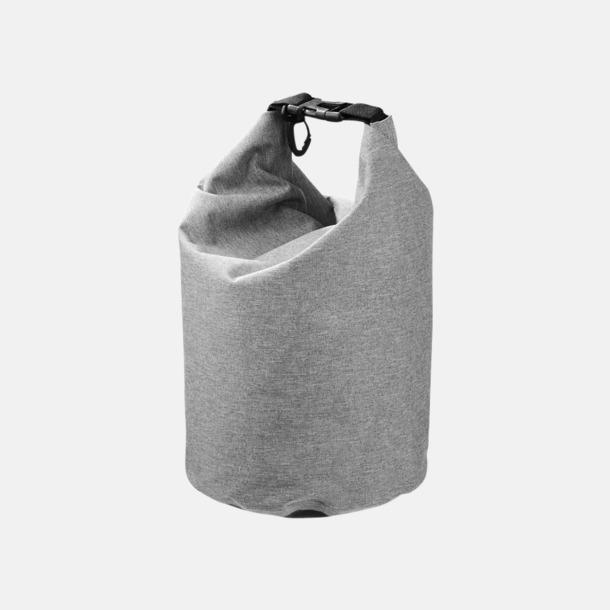 Grå 5 l vattentäta outdoorbags med reklamtryck