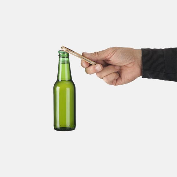 Flasköppnare i bambu med reklamlogo