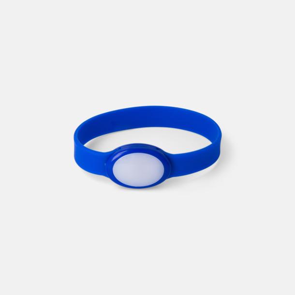 Blå Festivalarmband med skiftande LED-ljus - med reklamtryck
