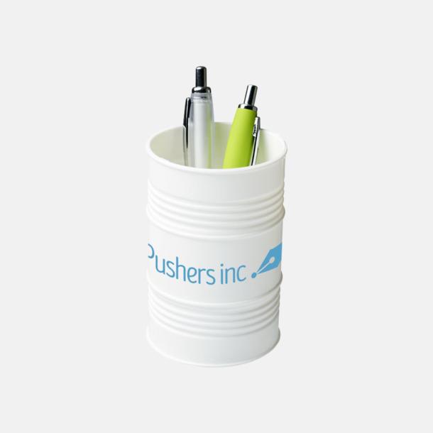 Med reklamtryck Pennhållare i form av ett oljefat med reklamtryck