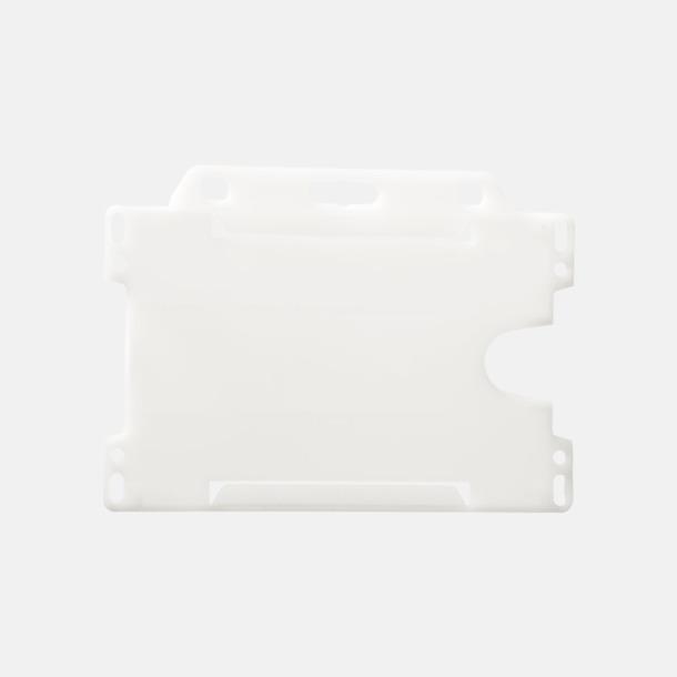 Transparent (liggande) Hållare för ID-kort - med reklamtryck
