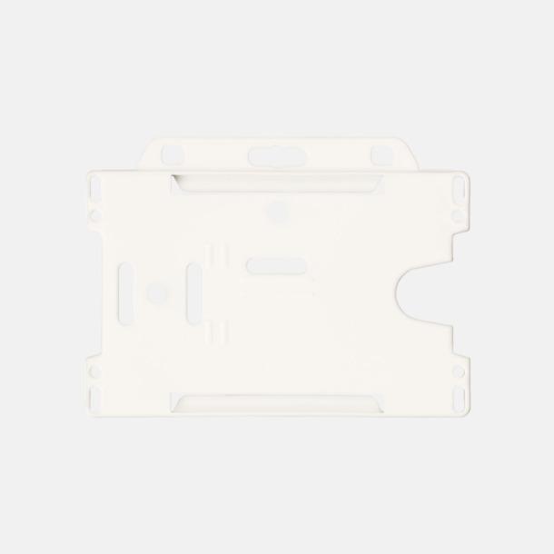 Vit (liggande) Hållare för ID-kort - med reklamtryck