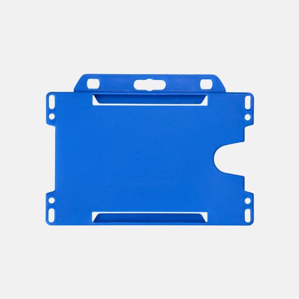 Blå (liggande) Hållare för ID-kort - med reklamtryck