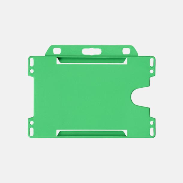 Grön (liggande) Hållare för ID-kort - med reklamtryck
