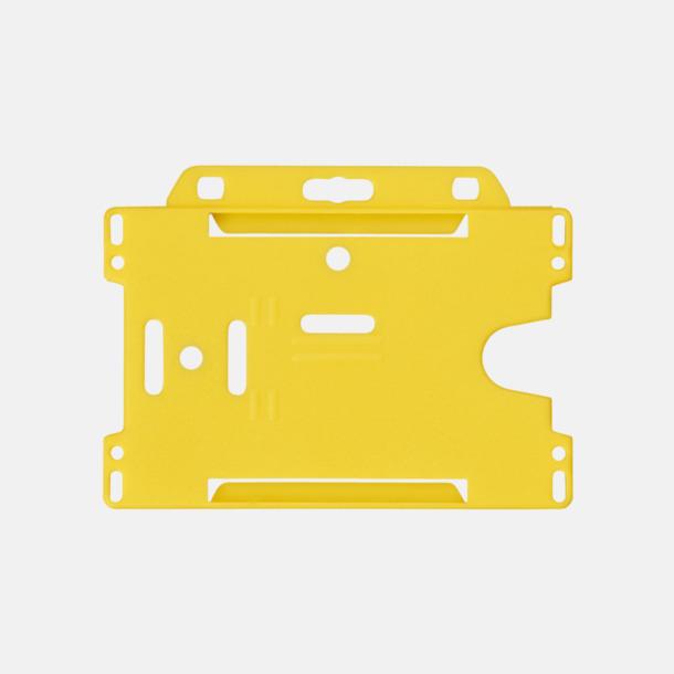 Gul (liggande) Hållare för ID-kort - med reklamtryck