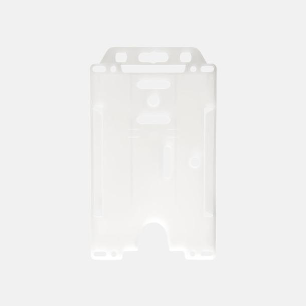 Transparent (stående) Hållare för ID-kort - med reklamtryck